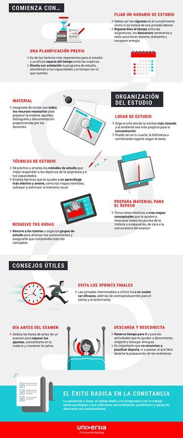 Infografia - ¿Cómo organizarte para estudiar tus exámenes finales?